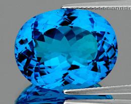 21x16mm Oval 36.05cts Swiss Blue Topaz [VVS]