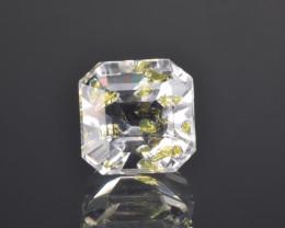 Rare Petroleum Quartz 3.22 Cts Faceted Gemstone with Moving Petroleum Bubbl