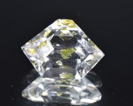 Rare Petroleum Quartz 3.45 Cts Faceted Gemstone with Moving Petroleum Bubbl