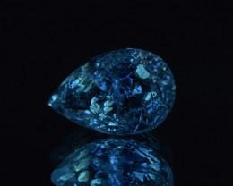 Rare Petroleum Quartz 3.82 Cts Faceted Gemstone with Moving Petroleum Bubbl