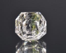 Rare Petroleum Quartz 4.15 Cts Faceted Gemstone with Moving Petroleum Bubbl