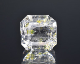 Rare Petroleum Quartz 6.17 Cts Faceted Gemstone with Moving Petroleum Bubbl