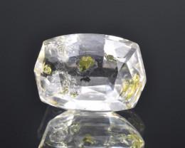 Rare Petroleum Quartz 6.34 Cts Faceted Gemstone with Moving Petroleum Bubbl