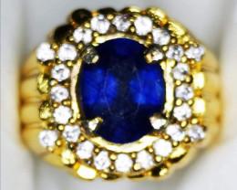 Cert.Natural Royal Bule sapphire Deep blue hidg Quality luster