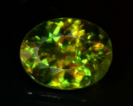 1.85 carats AAA Color Full fire Natural Chrome Sphene Loose Gemstone