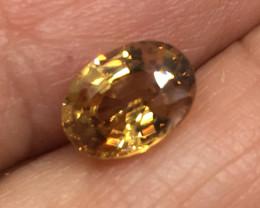 1.89 Carat VVS Zircon Precision Cut Tanzania Rare Color !