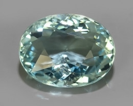 3.60 CTS FANTASTIC HUGE AWESOME  NATURAL OVAL CUT AQUAMARINE! $450.00