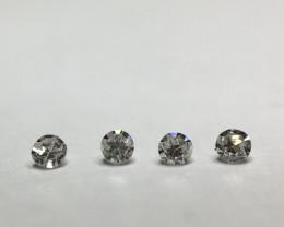 0.045 ct 4 x Light grey IF - VS Single Cut Round Diamond