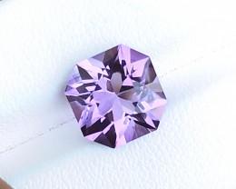 4.70 Ct Natural Purple Transparent Custom Cut  Amethyst Gemstone