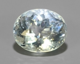 3.15 CTS NATURAL UNHEAT GENUINE LUSTROUS OVAL~RARE COLOR AQUAMARINE GEM!