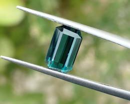 1.90 Ct Natural Blue Transparent Ring Size Tourmaline Gemstone
