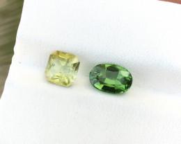2.15 Ct Natural Green & Yellow Transparent Tourmaline Gems Parcels