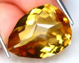 Citrine 11.25Ct VS Master Cut Natural Yellow Golden Citrine C1704