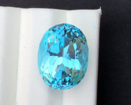 Stunning 21.20 Ct Natural Blue Topaz Gemstone