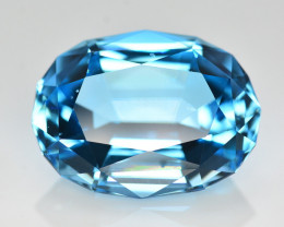 Stunning 30.70 Ct Natural Blue Topaz Gemstone