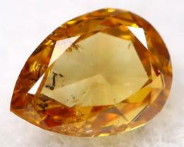 Orange Diamond 3.3mm Natural Untreated Fancy Diamond AT0199