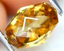Yellow Zircon 2.14Ct VVS Precision Master Cut Natural Yellow Zircon AT0218