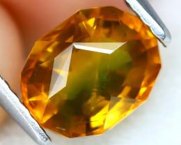 Sapphire 1.59Ct VVS Master Cut Natural BiColor Orange Sapphire AT0234