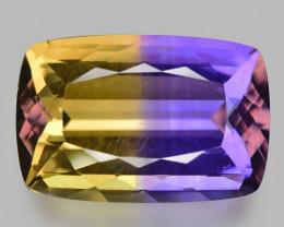 11.74 Cts Bolivian Ametrine Stunning Luster & Cut Gemstone  Am13