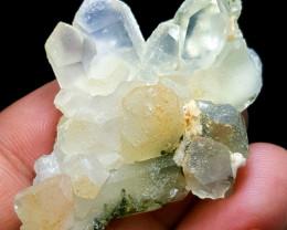 Amazing Natural color Damage free  Quartz combine with Epidote Crystals 91C