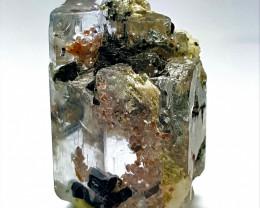 Amazing Natural color Damage free Aquamarine have inside Garnet inclusion a