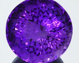 Rare!25.64Ct Natural Amethyst Custom cut Flawless