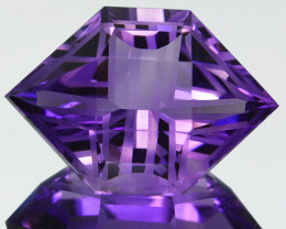 Custom!22.06Ct Natural Amethyst Rare  cut Flawless