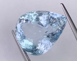 13.35 Cts Certified Tantalizing Blue Natural Aquamarine Fine Quality