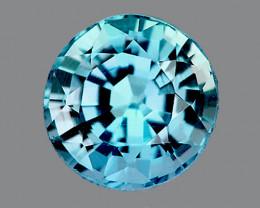 6.00 mm Round  1.46cts Blue Zircon [VVS}