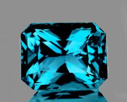 7.5x6 mm Octagon 2.44cts Blue Zircon [VVS]
