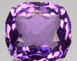 ~CUSTOM CUT~ 9.64 Cts Natural AAA Purple Amethyst Fancy Cushion Bolivia