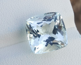 9.30 CTS Asscher Cut Aquamarine Gems.