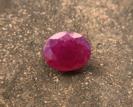 Ruby 5.91 ct Loose Gemstone - Natural Gemstone - Oval cut
