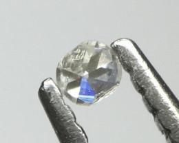 SUPERB! With trigons !0.01 ct Light grey VS/Si single cut Round Diamond