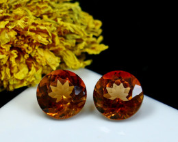 9.40 CT Natural - Unheated Brown Topaz Gemstone Pair
