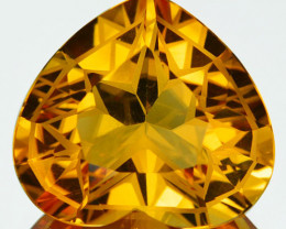 ~CUSTOM CUT~RARE!!!  8.93 Cts Natural Citrine Heart Fancy Cut Brazil