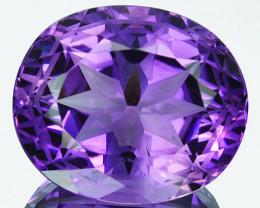 ~CUSTOM CUT~ 26.44Cts Natural Purple Amethyst Fancy Oval Bolivia