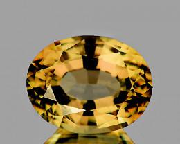 8x6 mm Oval 1.83cts Golden Yellow Zircon [VVS}