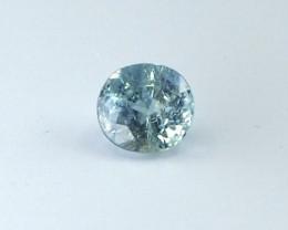 0.9ct unheated Greenish Blue Sapphire