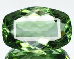 Custom! 26.84Cts Natural Prasiolite(Green Amethyst ) Custom cut