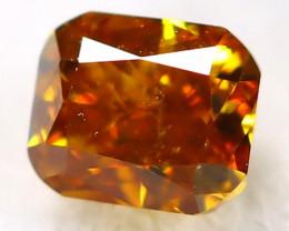 Intense Orange Diamond 2.7mm Natural Untreated Fancy Diamond AT0025