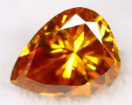 Intense Orange Diamond 3.1mm Natural Untreated Fancy Diamond AT0040