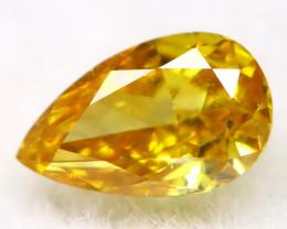 Yellowish Orange Diamond 0.11Ct Natural Untreated Fancy Diamond AT0047