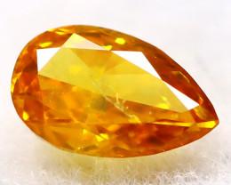 Yellowish Orange Diamond 3.5mm Natural Untreated Fancy Diamond AT0077