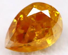 Orange Diamond 3.2mm Natural Untreated Fancy Diamond AT0090