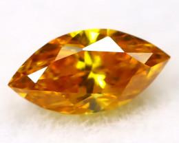 Yellowish Orange Diamond 0.11Ct Natural Untreated Fancy Diamond AT0121
