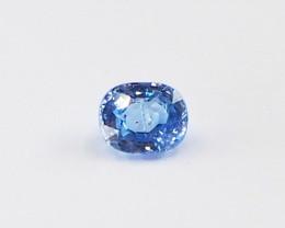 0.73ct unheated blue sapphire