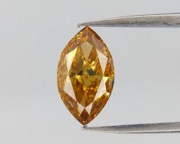 0.47 cts, Marquise Brilliant Cut , Dark color Diamond