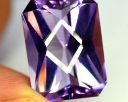 18.40 Carats Grade Natural Amethyst Fancy Cut Gemstone