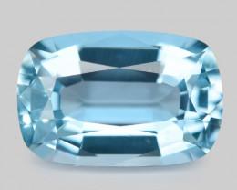 2.43 Cts Un Heated  Santa Maria Blue Color Natural Aquamarine Loose Gemston